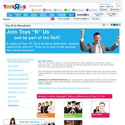Toys R Us Recruitment - Toys R Us
