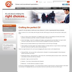 i2i - Recruitment Agency Cheltenham - CV writing skills