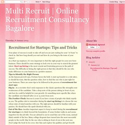 Recruitment for Startups: Tips and Tricks