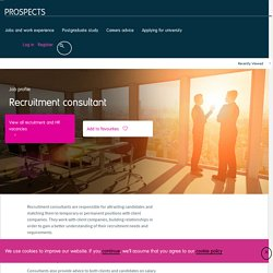 Recruitment consultant job profile