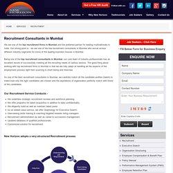 Top Recruitment Consultants in Mumbai