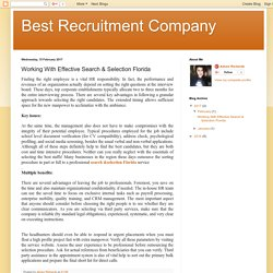 Get Career Long Visibility To Top Executive Search and Selection