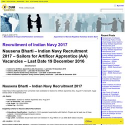 Recruitment of Indian Navy 2017- Rozgar darpan