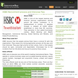 HSBC Recruitment process and Interview Tips