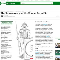 Roman Army - Recruitment, Legions, Siege Warfare & More