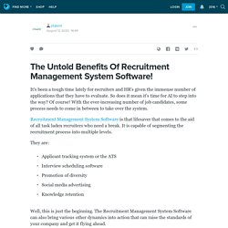 Get Solid Results With Recruitment Management Software!