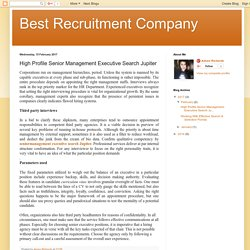 High Profile Senior Management Executive Search Jupiter