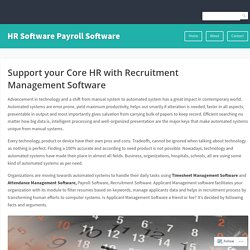 Support your Core HR with Recruitment Management Software – HR Software Payroll Software