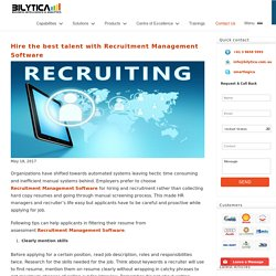 Hire the best talent using Recruitment Management Software - PeopleQlik