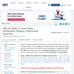 IBPS PO Result, Exam Date, Eligibility & Pattern