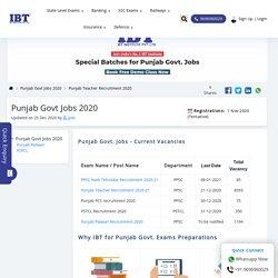 Punjab Govt Jobs 2020: Punjab Recruitment Notification