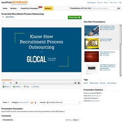 Know how Recruitment Process Outsourcing