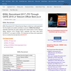 BSNL Online Application