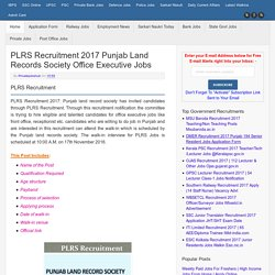 PLRS Recruitment