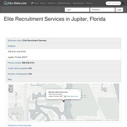 Best Execuitive Recruitment Firm Jupiter