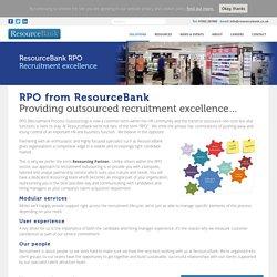 Recruitment Process Outsourcing UK, Resourcing Partner - ResourceBank