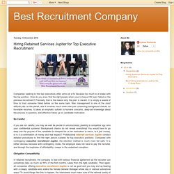 Retained Service Provider for Executive Recruitment Jupiter