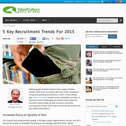 5 Key Recruitment Trends For 2015