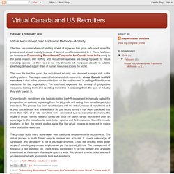 Virtual Recruitment over Traditional Methods - A Study