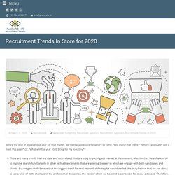 Recruitment Trends In Store for 2020 - Procure HR
