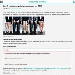 Recrutement : les 5 tendances de 2013