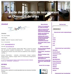 Cabinet de recrutement emploi pearltrees - Cabinet recrutement industrie pharmaceutique ...