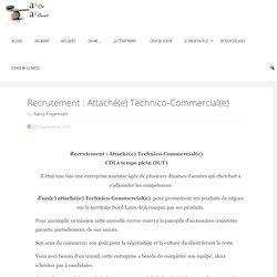 Recrutement : Attaché(e) Technico-Commercial(e)