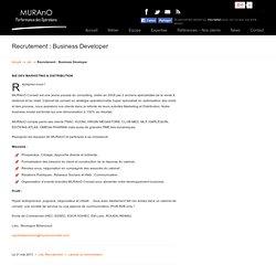 Recrutement : Business Developer « MURAnO Conseil – Marketing