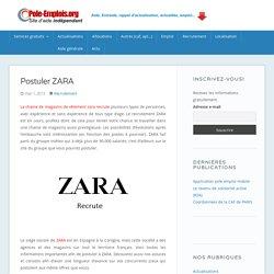 ZARA Recrutement : Les Emplois Disponibles chez ZARA
