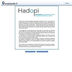 HADOPI : recrutement