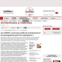 Les MOOC, nouveaux outils de recrutement et de management pour les entreprises