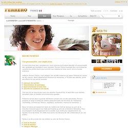 Recrutement Ferrero : accédez à l'espace Recrutement Ferrero
