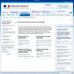 Recrutement dans la fonction publique