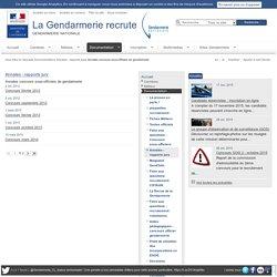 Recrutement - Annales concours sous-officiers de gendarmerie