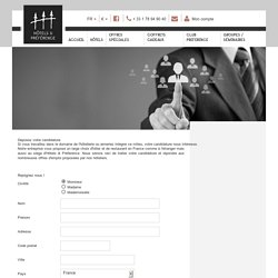 Recrutement CHR - Hotels & Preference