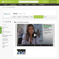 La politique de recrutement de Keolis en vidéo sur JobTeaser