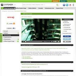 La politique de recrutement de Xerox France en vidéo sur JobTeaser