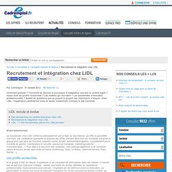 Recrutement et intégration chez LIDL