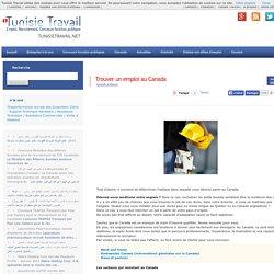 Trouver un emploi au Canada Tunisie Travail Recrutement Emploi Web 2.0, Concours Fonction Publique, RH, International jobs, Concours
