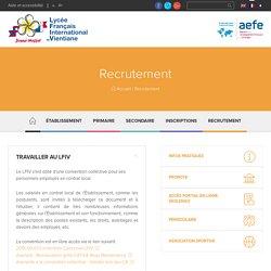 Recrutement recruitment lycée français international de Vientiane