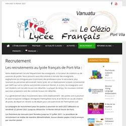 Recrutement – Lycée Français de Port Vila