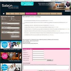 Offre d'emploi, recrutement agences de voyages et tour operator - Salaün Holidays