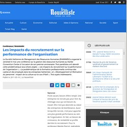Les impacts du recrutement sur la performance de l'organisation