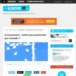 E-recrutement : Twitter plus performant que Linkedin ? - Recrutons.fr