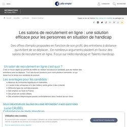 Les salons de recrutement en ligne : une solution efficace pour les personnes en situation de handicap