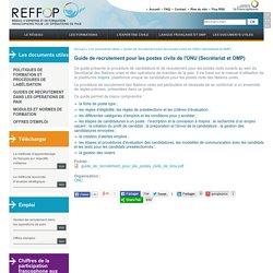 Guide de recrutement pour les postes civils de l'ONU (Secrétariat et OMP)