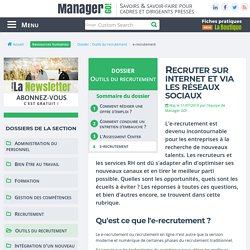 e-recrutement et recrutement sur les réseaux sociaux 2.0