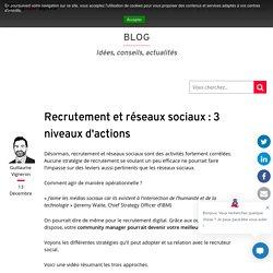 Recrutement et réseaux sociaux : 3 niveaux d'actions