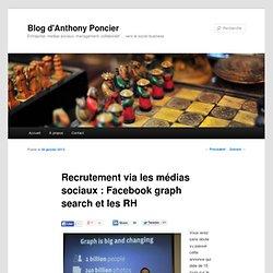 Recrutement via les médias sociaux : Facebook graph search et les RH