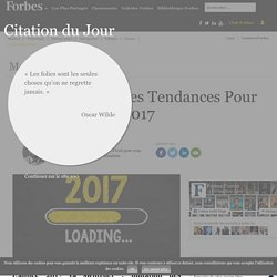 Recrutement : Les Tendances Pour 2017